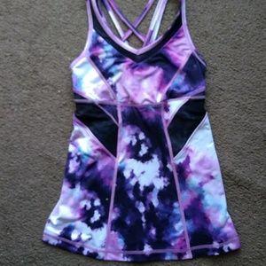 Lululemon pink purple blue black blooming tank 4